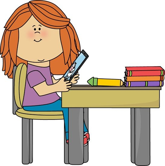 Desk clipart organised Com Desk Clipart Student+Sitting+at+Desk+Clip+ Kid