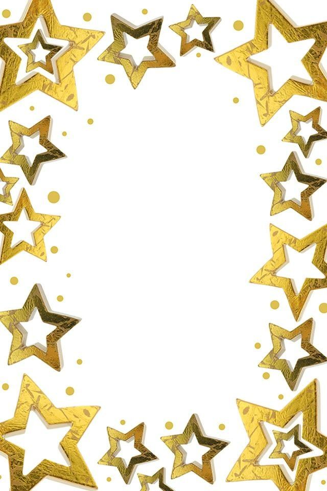 Iphone clipart border Pinterest Gold on images Stars