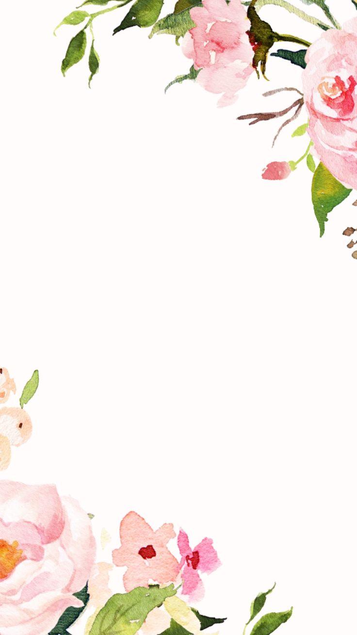 Iphone clipart border Border Pinterest Floral design 25+