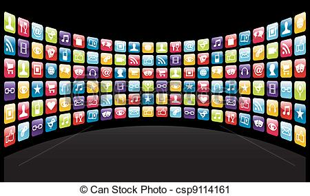 Iphone clipart iphone app  Vector app Iphone background