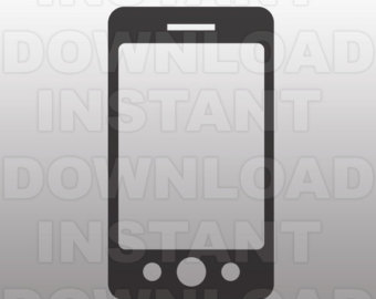 Iphone clipart silhouette Etsy File iPhone Vector for