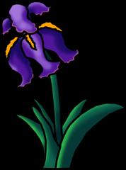 Iris clipart Clipart Art Free Flower Clipart