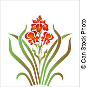 Iris clipart drawn Illustrations vector 381 and 10
