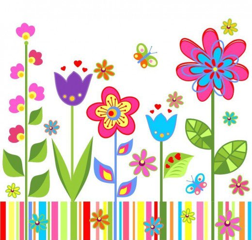 Bright clipart spring flower Spring CLIP 150 Multicolored of