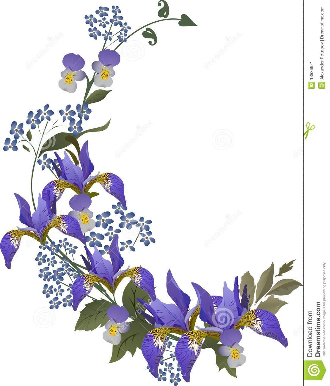 Iris clipart violet Fans 136 Clipart flower Iris