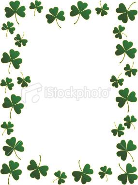 Irish clipart background Collection border shamrock shamrock frame