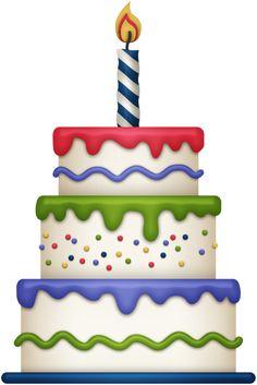 Simple clipart birthday cake #13