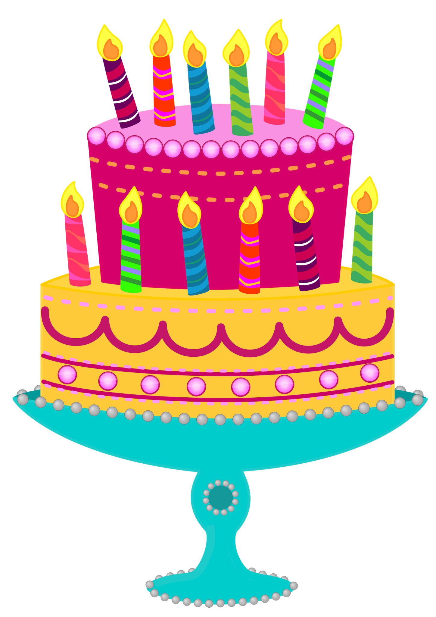 Simple clipart birthday cake #10