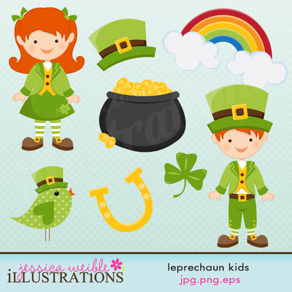 Clover clipart child Comes set Leprechaun eight with