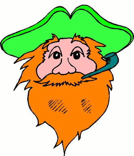 Beard clipart beared Stpatrick holiday domain art