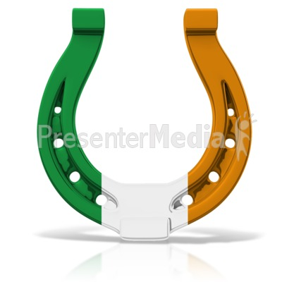 Horseshoe clipart irish Events Colored Clip  Holiday