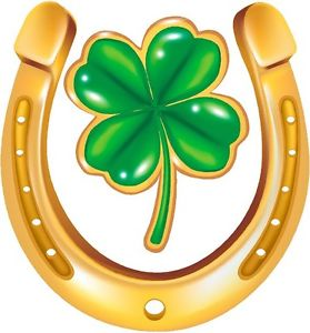 Horseshoe clipart lucky Graphic irish vinyl horseshoe loading