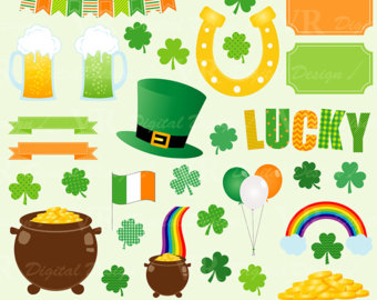 Horseshoe clipart irish Download Clip clipart Clover Etsy