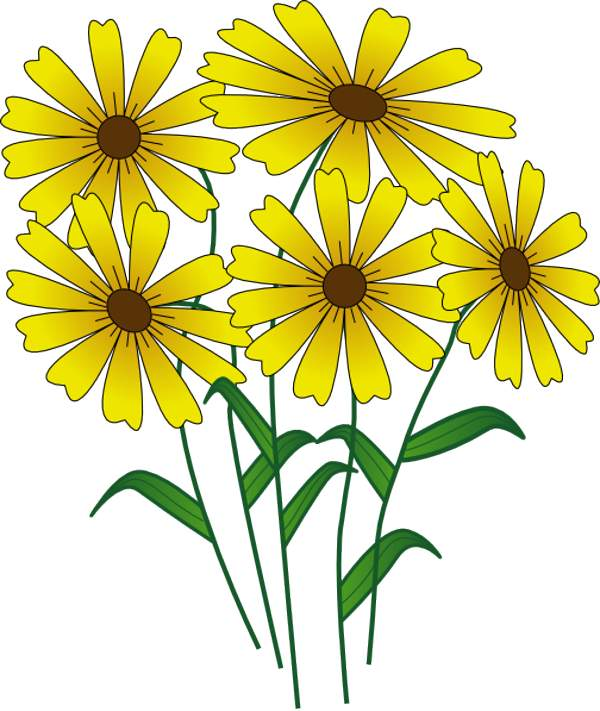 Yellow Flower clipart flower leaves Clipart 2 art Free free