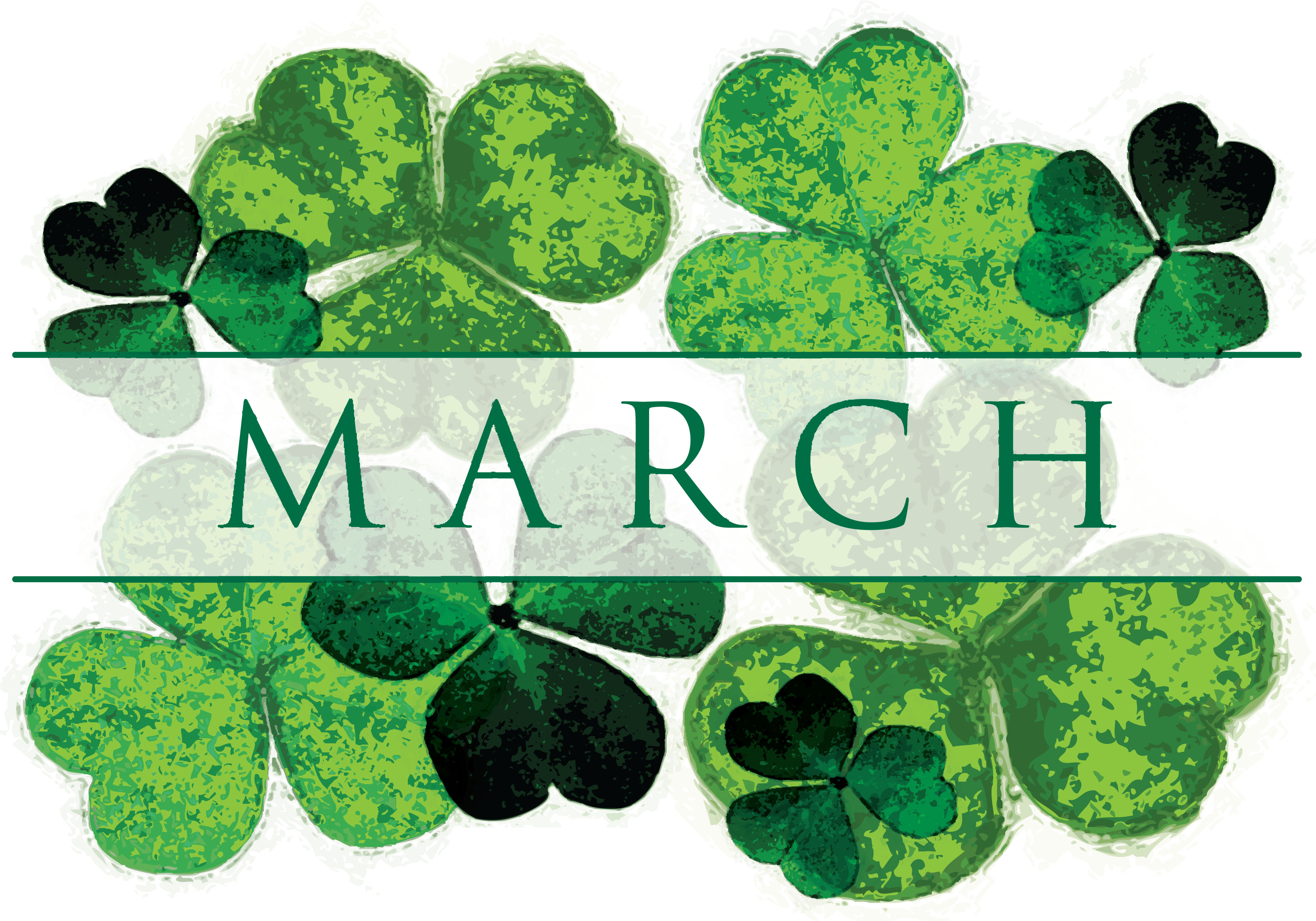 Clover clipart march newsletter Owner March Southwestern Management 2017