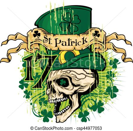 Irish clipart skull Skull and arms grunge arms