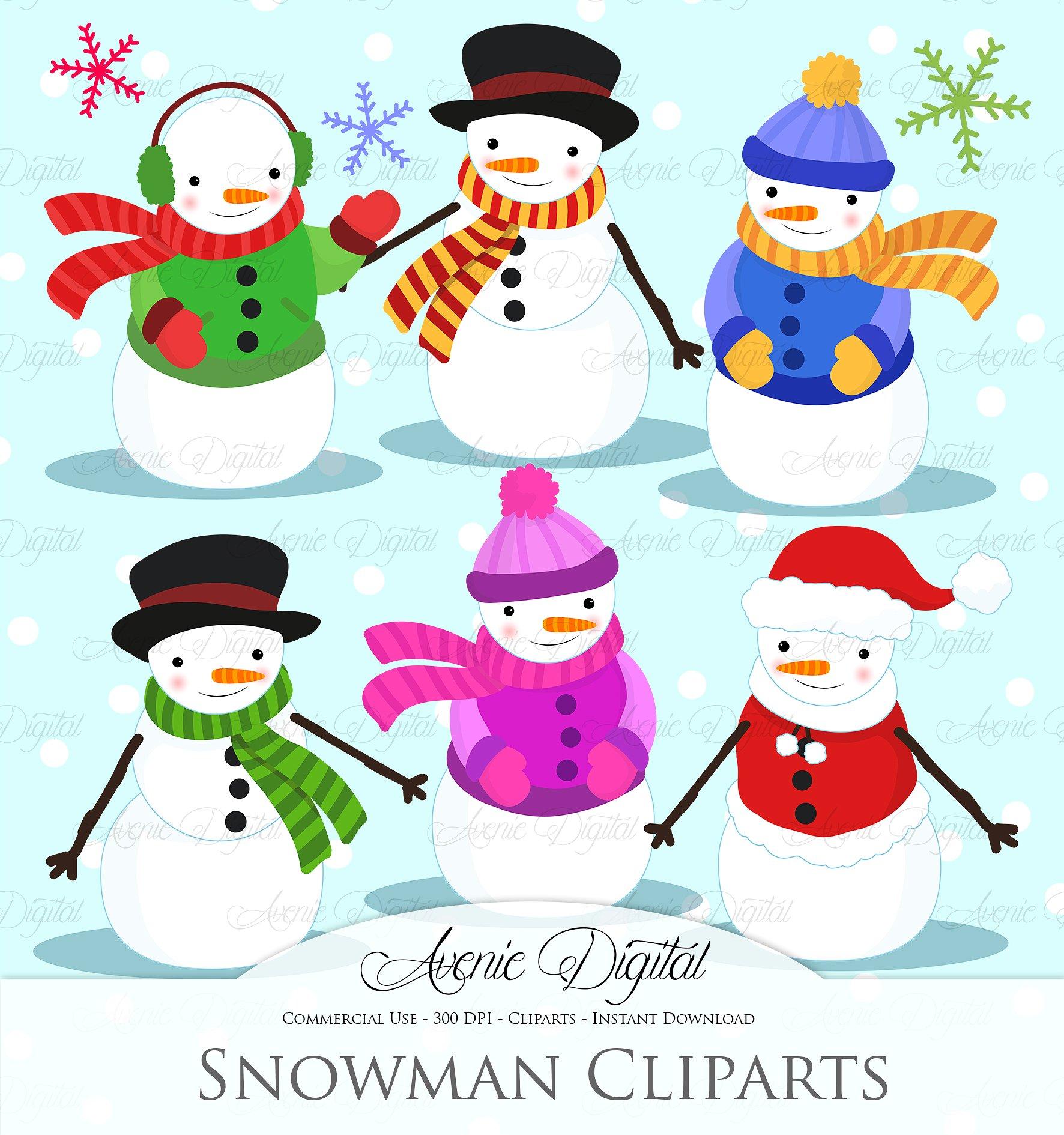 Irish clipart snowman  Illustrations ~ Snowman Creative