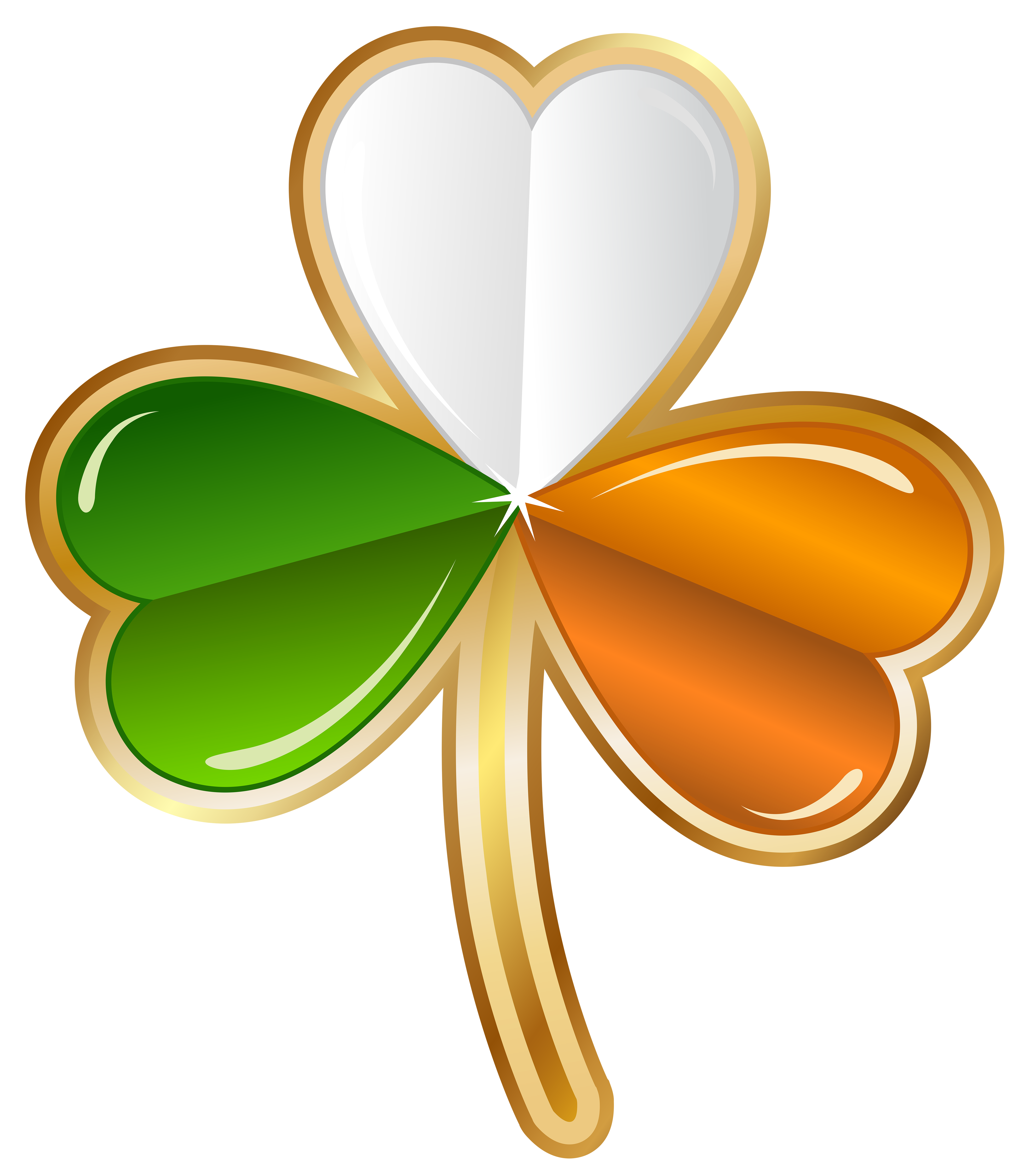 Yellow clipart shamrock Full size Image St View