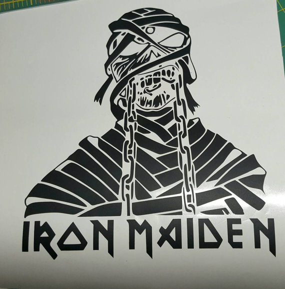 Iron Maiden clipart Iron Maiden Mascot with Decal