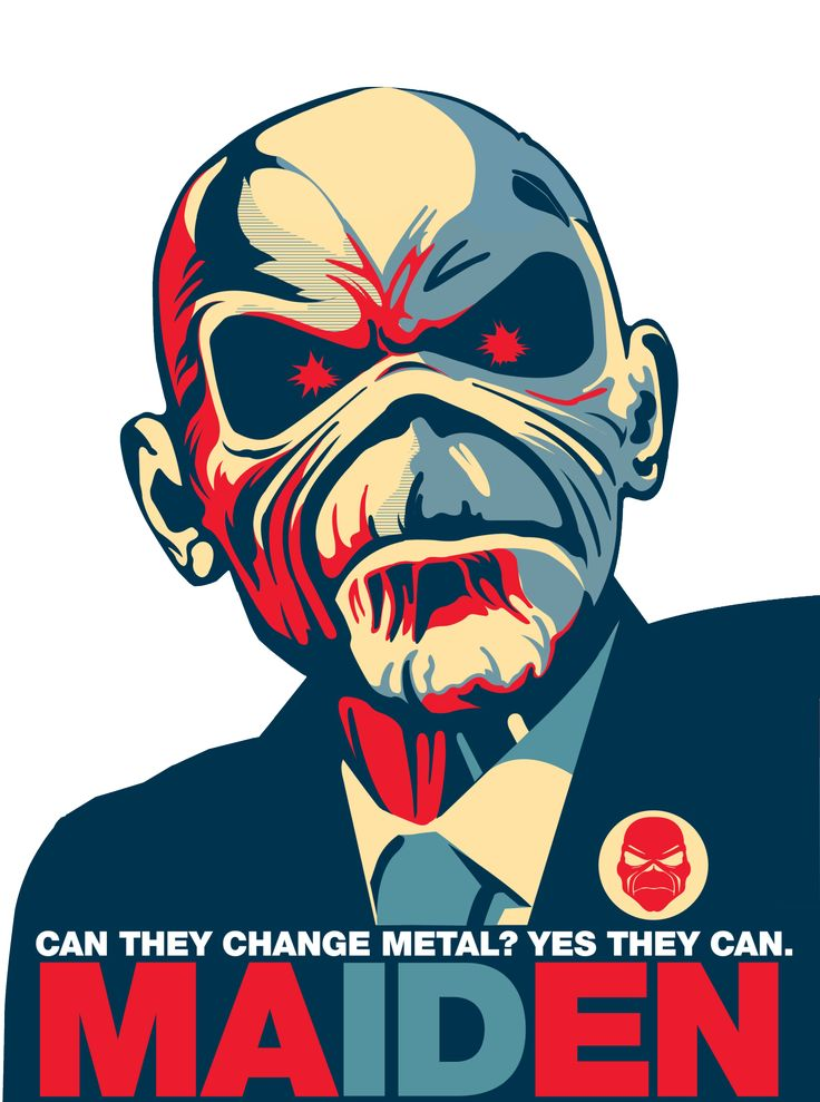 Iron Maiden clipart For president by ☆ illdropdeadofsloth
