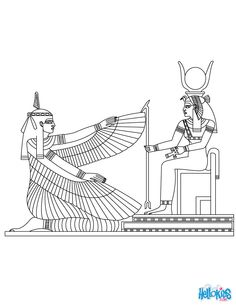 Isis clipart egyption Coloring  Egyptians Isis Page