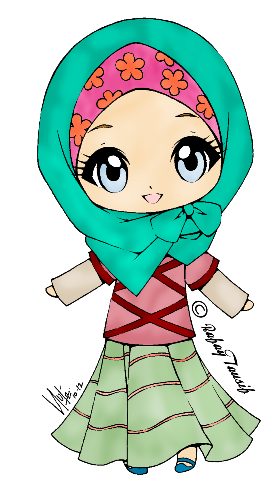Anime clipart cute Muslim Girl Google  clipart