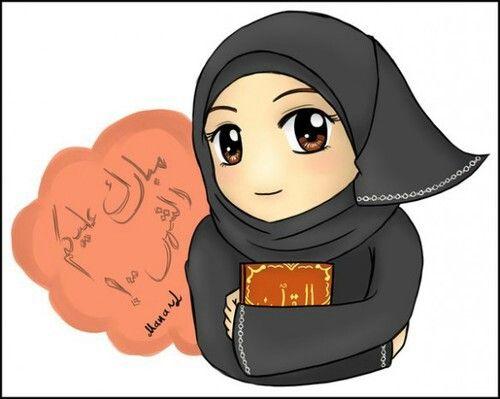 Anime clipart lady #islam Pinterest #cartoon #anime #Hijab