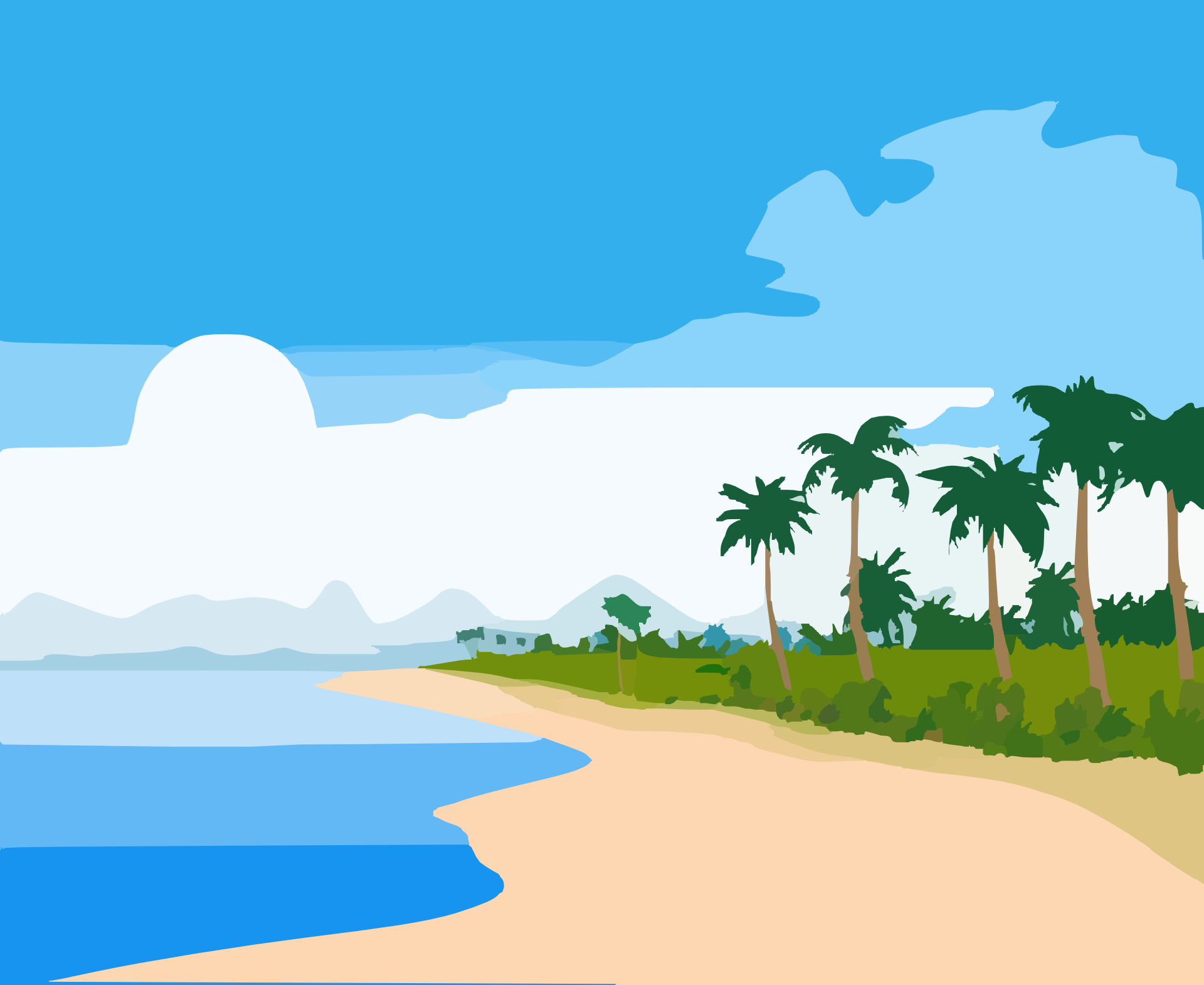 Palm Tree clipart deserted island Island Clipart Beautiful Clipart ClipartMe