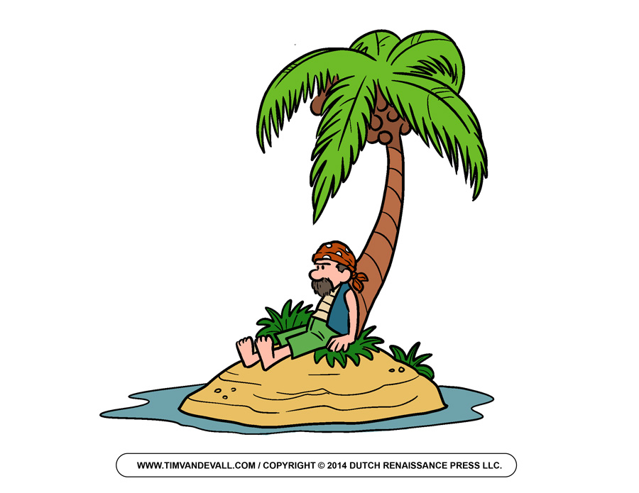 Eiland clipart long tree On Clip Art Person Island