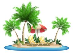 Eiland clipart palm tree beach Green Happiness PNG PNG Umbrella