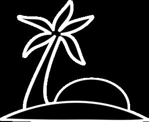 Beach clipart silhouette Clipart Palm Panda Clipart Images