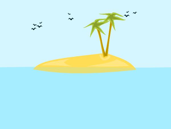 Eiland clipart tropical bird Island online medium Clker clip