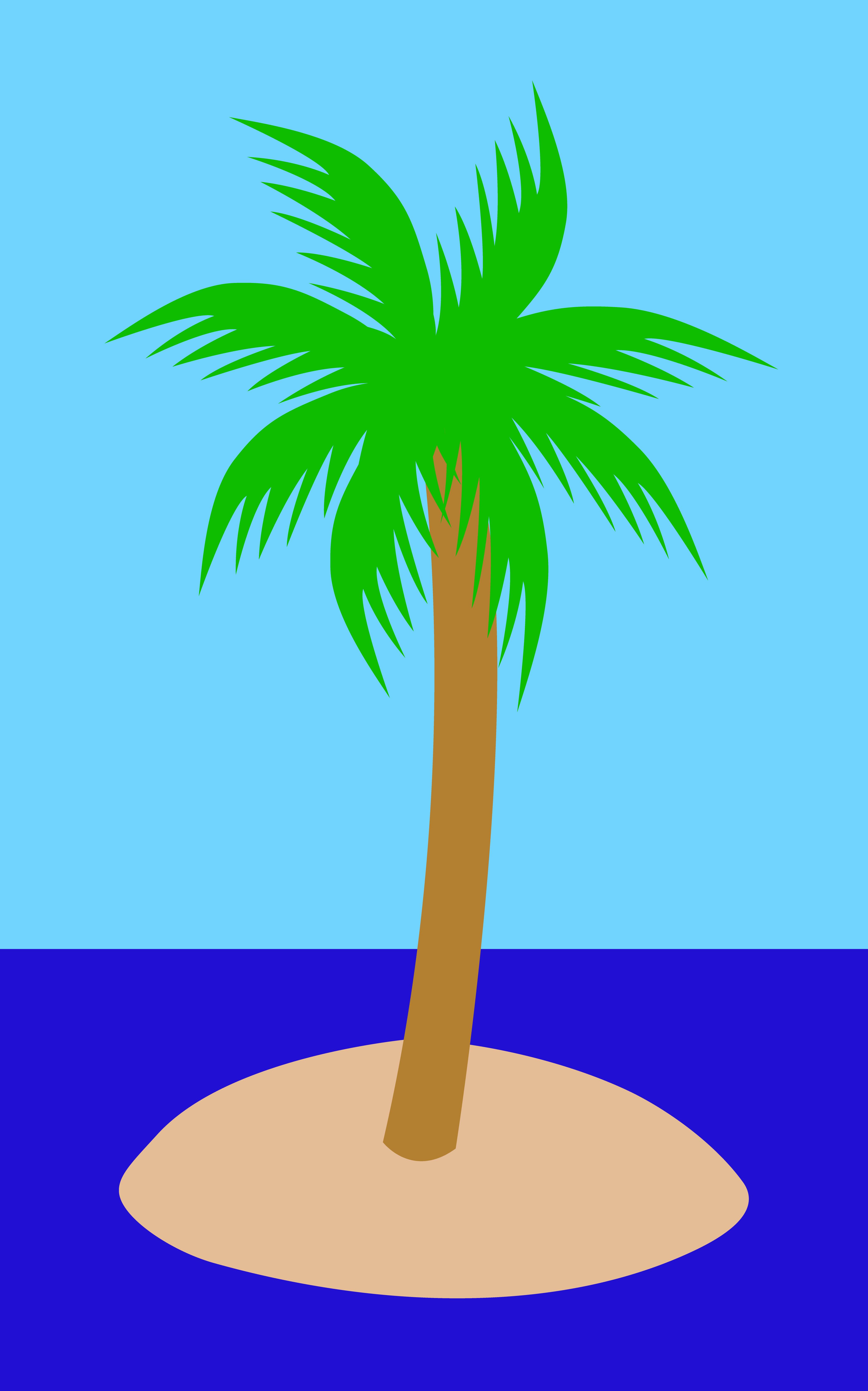 Ocean clipart palm tree On Tree Island Island Tree