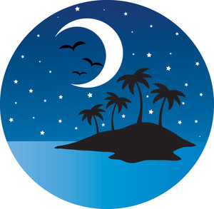 Eiland clipart tropical bird Clipart Silhouetted Clipart Clipart Night