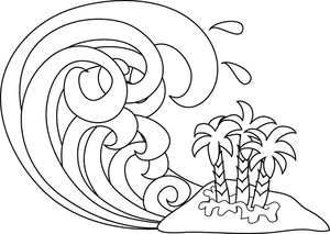 Tsunami clipart black and white Line Tsunami and Tsunami Image: