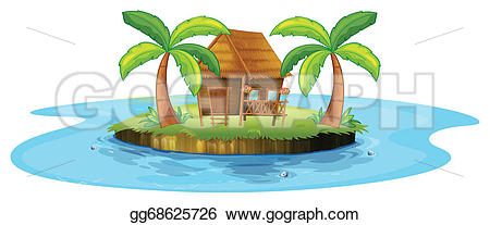 Islet clipart beach water Of island A Vector an