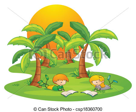 Islet clipart Near kids trees kids Two