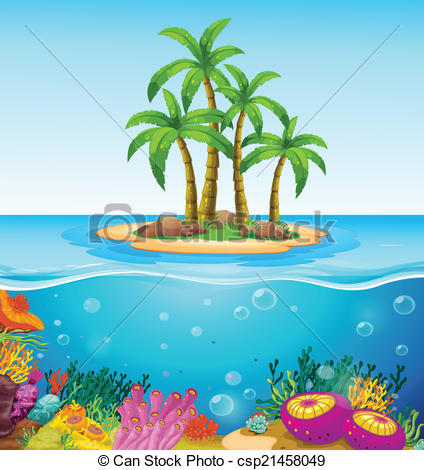 Islet clipart The island csp21458049 beautiful beautiful
