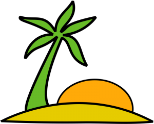 Islet clipart paradise And The Clip Art Palm