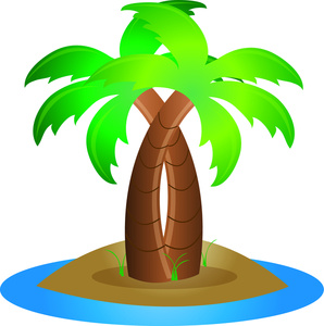 Oasis clipart tropical island Clipart Clipart Tree Clip Palm