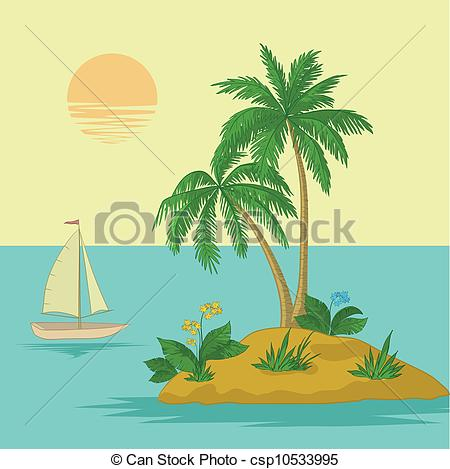 Islet clipart date tree Island of  Island palm