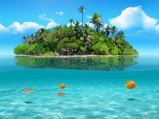 Islet clipart dream vacation Best on Tropical Island Basics