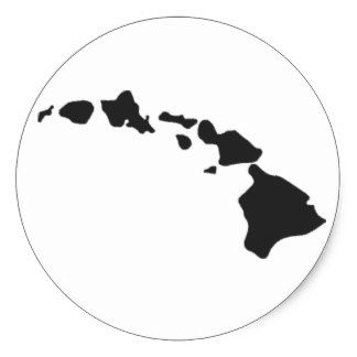 Islet clipart hawaian Hawaiian Stickers Oahu Zazzle Islands