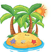 Islet clipart island hut Art An Clip Free Royalty