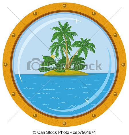 Islet clipart island hut Free Tropical Island bronze