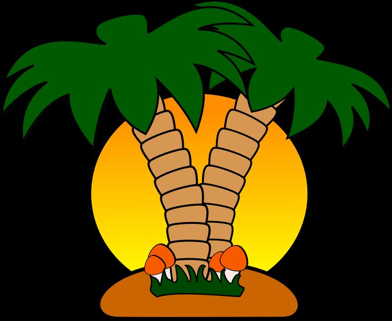 Islet clipart khajur Palm art Trees Clipart island