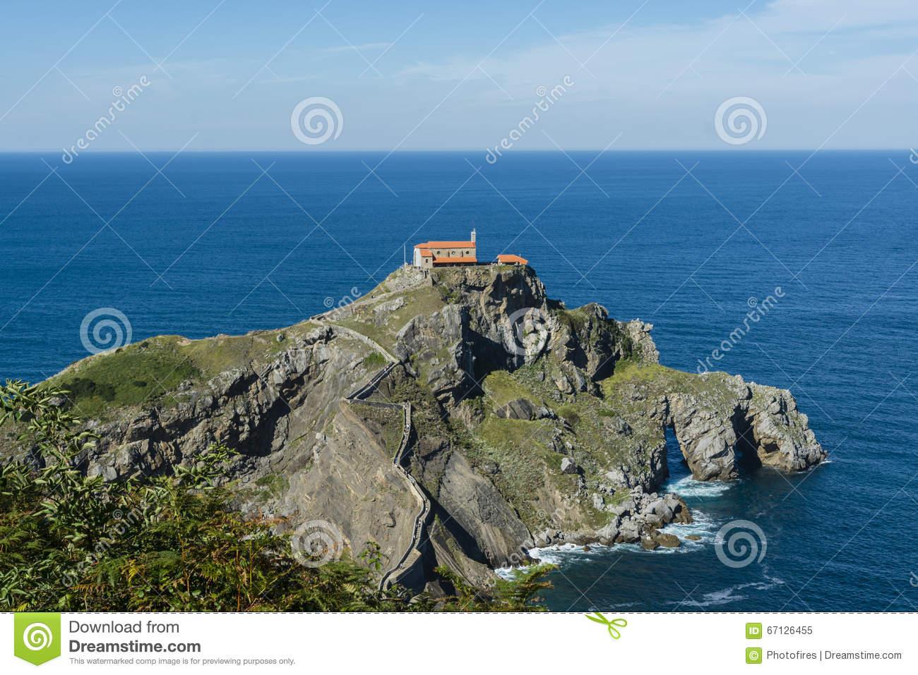 Islet clipart landform #7 Gaztelugatxe drawings clipart Gaztelugatxe