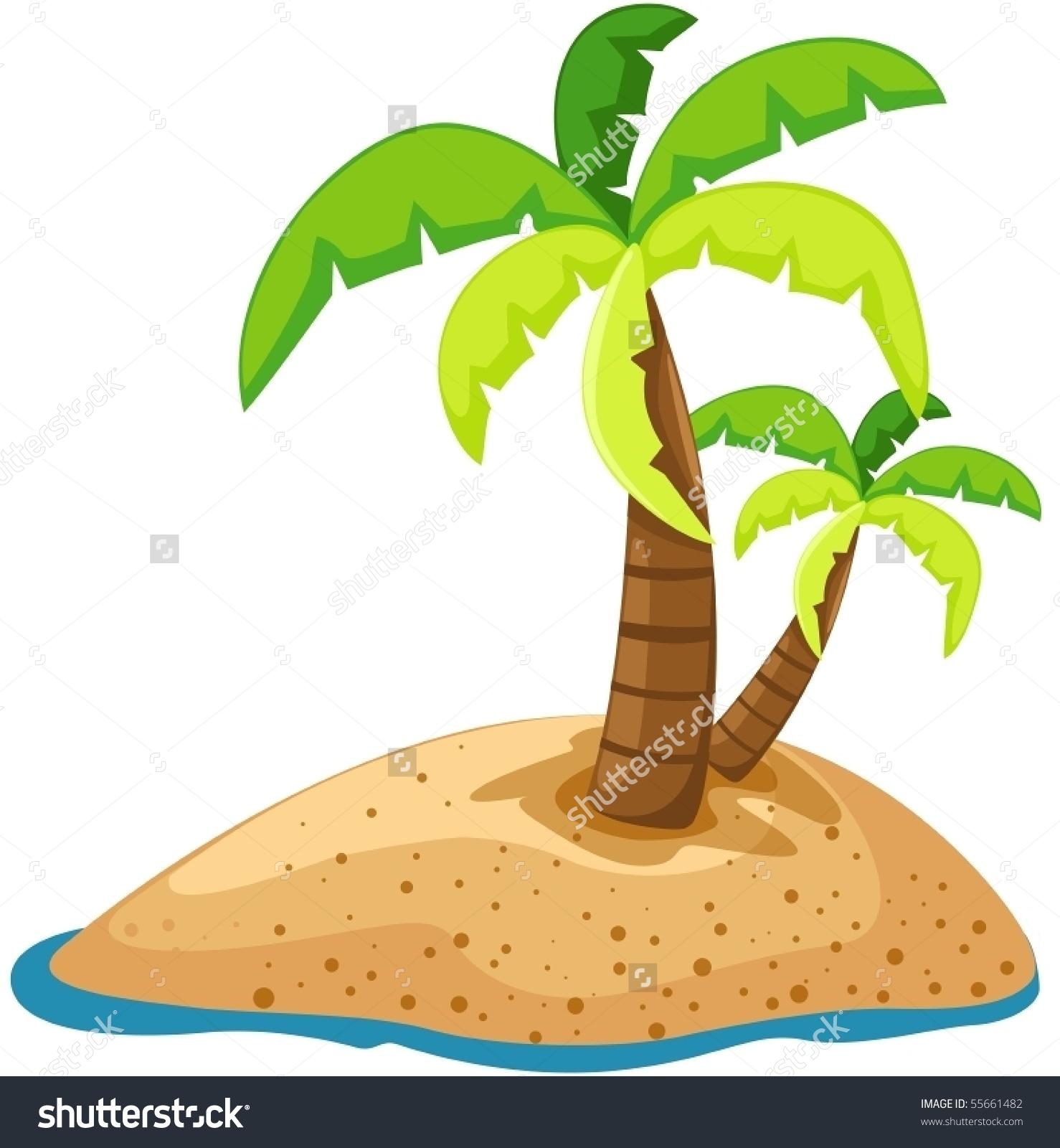 Eiland clipart palm tree beach Tree clipart island island with