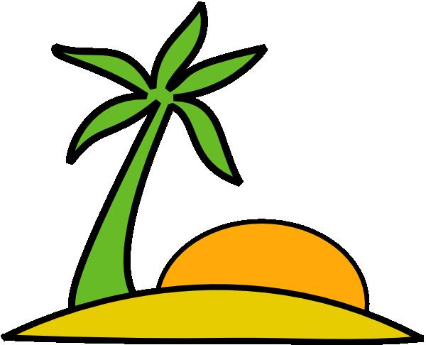 Vacation clipart transparent Sun clip Palm The Clip