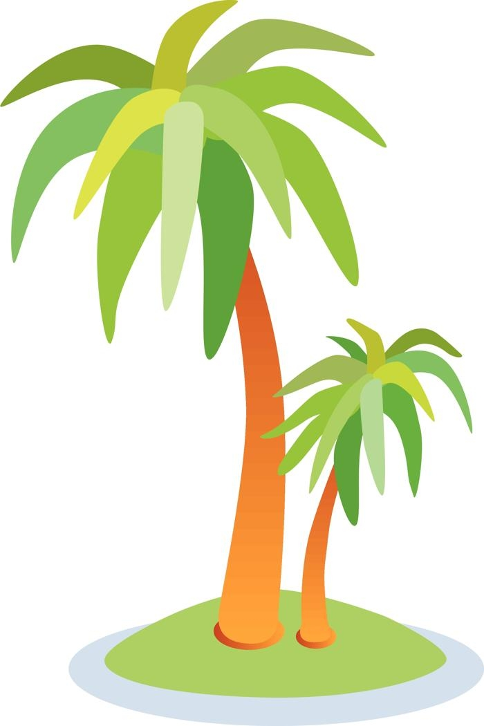 Eiland clipart palm tree beach Cliparts Clipart with 2 Island